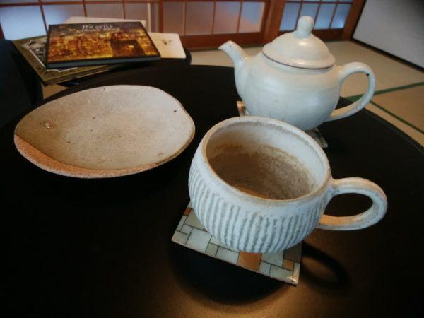 クレイスタジオくり さんのカップとお皿